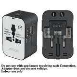 Universal Power Plug Ac Travel Adapter with Dual 5V 2.1A USB Charger for Iphone