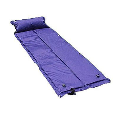 Self Inflating Mattress Camping Hiking Airbed Mat Sleeping with Pillow Blue