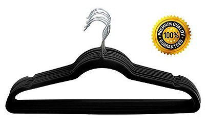 50 Pack Clothes Hangers Black Velvet Hangers