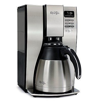 Mr. Coffee 10 Cup Optimal Brew Thermal Coffee Maker, Stainless Steel