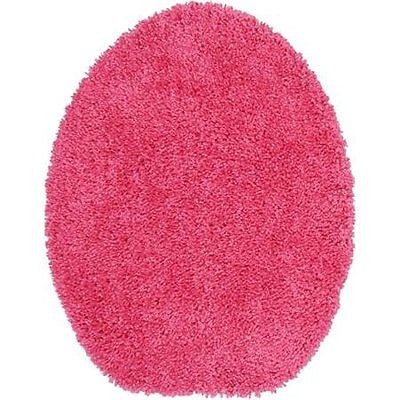 Mainstays Basic Bath Toilet Seat Cover, Solid (Bright Pink)