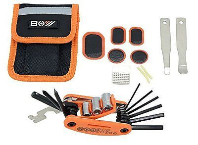Bike Repair Set Bag Bicycle Multi Function 16 in 1 Tool Kit Hex Key Wrench Tire