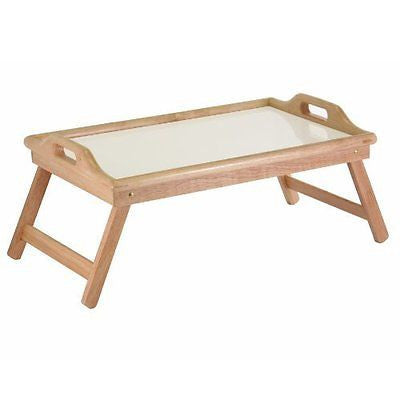 Breakfast Bed Tray with Handle Foldable Legs
