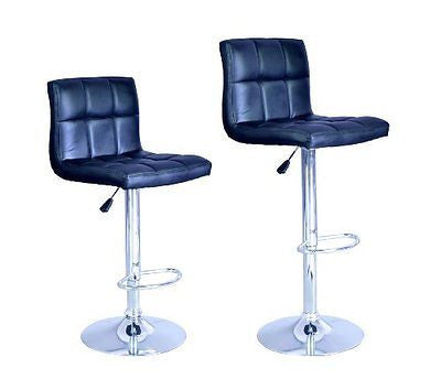 New  Adjustable Synthetic Leather Swivel Bar Stools Chairs B06 - Sets of 2