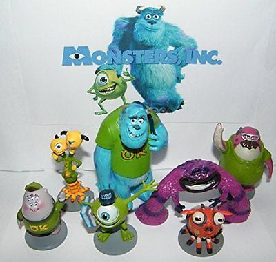 Disney Monsters Inc Deluxe Party Favors Goody Bag Fillers Set of 7 Figures