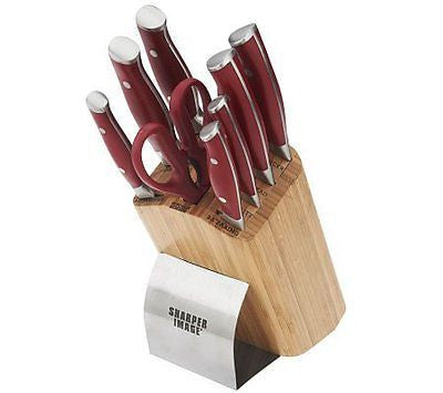 Sharper Image 9pc Cutlery Set 8 Chef 8 Carving 8 Serrated Bread Knife