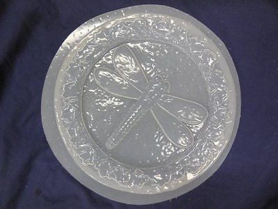 Dragonfly Leaf Border Stepping Stone Concrete or Plaster Mold 1267