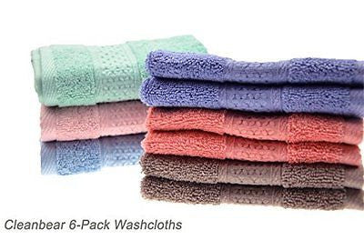 Cleanbear Face-Cloth Washcloths Set 100% Cotton High Absorbent