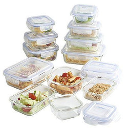 12-Piece Glass Container Food Storage Set