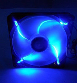 Lepa LPF12FLB-BL 120mm Blue LED Silent Fan for Gaming PC, Desktop Mid Tower