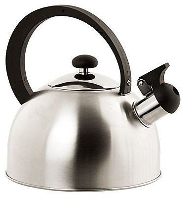 Home Basics Stainless Steel Tea Kettle Silver