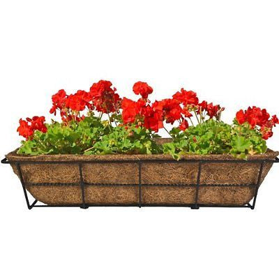 CobraCo DPBCB24-B 24-Inch Canterbury Adjustable Deck Railing Planter, Black