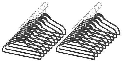 Whitmor 6959-1621-20-BLK Spacemaker Collection Set of 20 Plastic Suit Hangers