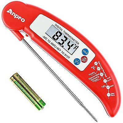 Anpro? Digital Instant Read Cooking Thermometer with Stainless Probe