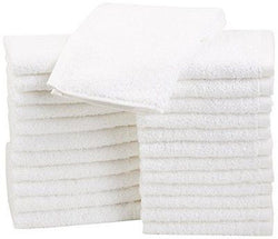 AmazonBasics Cotton Washcloths - 24-Pack White