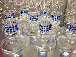 16 Plastic Royal Blue Candle Holder Favor Decorations Party Supplies Special