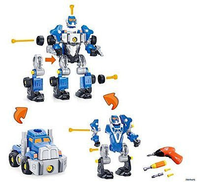 Memtes? Take-A-Part Transformers Robot Toy Truck Toy, Included with Power Drill