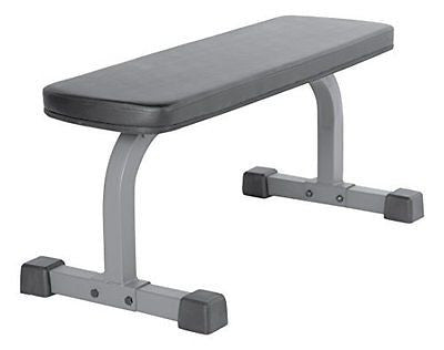 XMark Fitness Flat Dumbbell Weight Bench Steel Skid & Sweat Resistant Wide Foot