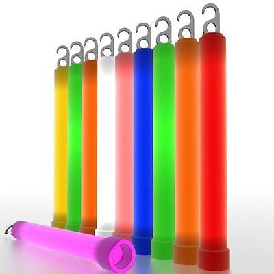 Epsilon 6 Inch Glow Sticks - 10 per pack - Military Grade Burns For 12 hours