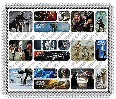 Sheet Stars Wars Galaxy Edible Icing Image Cake Border Decoration (3 Strips)