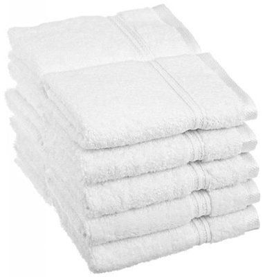 Luxury Spa Collection - 6 Piece Terry Washcloth / Face Towel Set - 100% Genuine