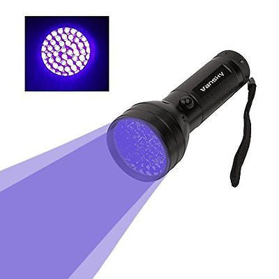 Vansky? 51 LEDs UV Blacklight Flashlight Pets Ultra Violet Urine Stain Detector