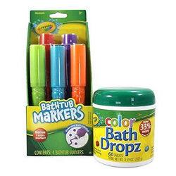 Crayola Bathtub Markers with Crayola Color Bath Drops 60 tablets