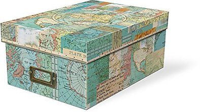 World Atlas Photo Storage Box