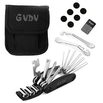 GVDV 16 in 1 Multi Function Bike Tools with Patch Kit & Tire Levers Bicycle