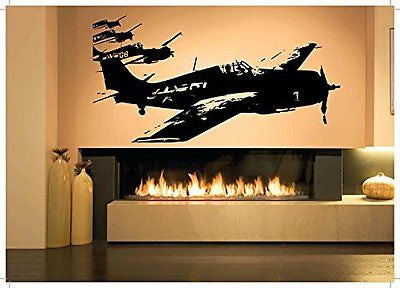 Wall Room Decor Art Vinyl Sticker Mural Decal Air Plane Jet Fighter Pilot