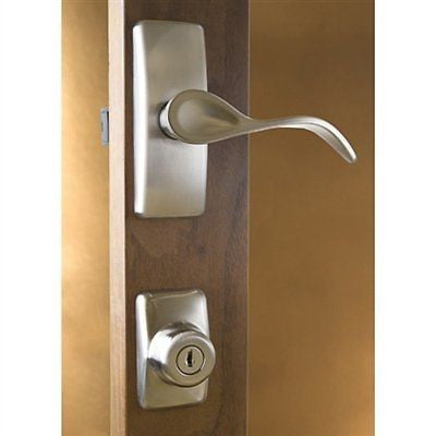 Storm Door Hardware Hampton Surface Mount Satin Nickel 1-1/2