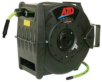 "ATD Tools 31163 Levelwind Retractable Air Hose Reel with 3/8"" x 60' Premium"