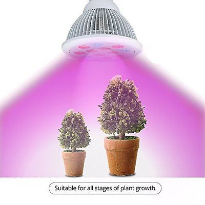 I-PURE ITEMS TM 24W LED Grow Light Bulb, High Efficient Plant Growing Lamps