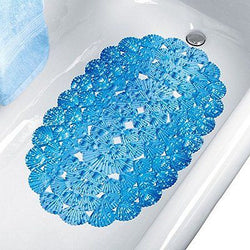 Collections Etc Blue Seashell Suction Bathtub Mat