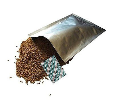 "50 - 1 Gallon (10""x14"") Dry-Packs Mylar Bags & 50 - 300cc Oxygen Absorbers"