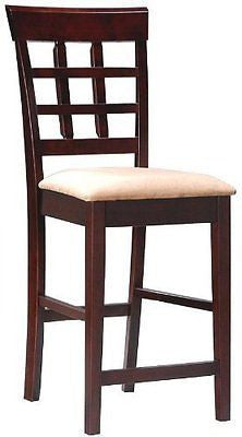 Coaster Contemporary Style Counter Height Stools Cappuccino Finish Set of 2""