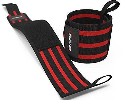"Wrist Wraps by Rip Toned - 18"" Professional Grade With Thumb Loops"