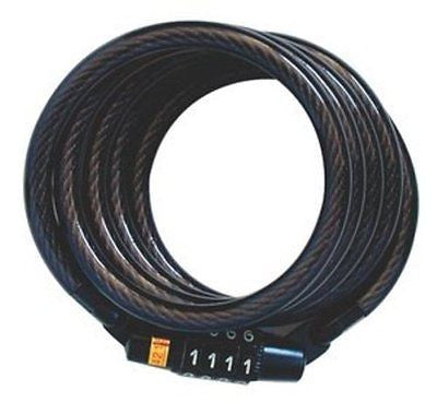 Master Lock 8143D Self Coiling Cable Lock, 4-Feet x 5/16-inch