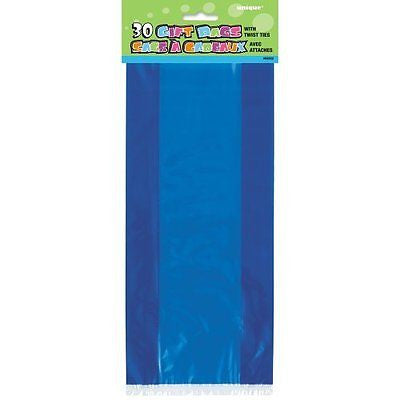 Cellophane Bags, Royal Blue, 30 Count