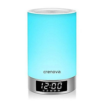 Bedside Lamp, Crenova L5 Touch Sensor Table Desk Lamp with Wireless Bluetooth