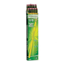 Dixon Ticonderoga Wood-Cased Pencils, #2 HB, Yellow, Box of 12