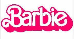"Barbie Logo 6"" Pink Car Truck Vinyl Decal Art Wall Sticker USA Cute Kids Fun"