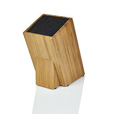 Kapoosh Dice Knife Block Bamboo Wood