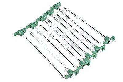 SE 9NRC10 Galvanized Non-Rust Tent Peg Stakes with Green Stopper