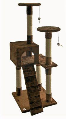 Go Pet Club Cat Tree Furniture 52 in. High Sitting Pretty - Brown