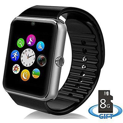Smart Watch Phone for iPhone and 4.2 or Above SmartPhones Include 8G SD Card