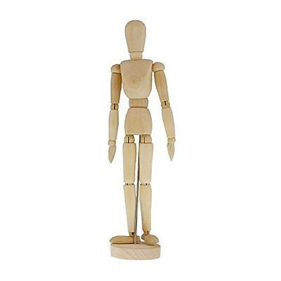 "US Art Supply? Wood 12"" Artist Drawing Manikin Articulated Mannequin"