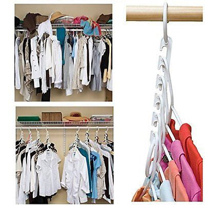 Wonder Hanger Closet Clothes Organizer/Space Saver Storage Plastic 10 Pack