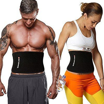 Waist Trimmer Ab Belt for Faster Weight Loss. Includes FREE Fully Adjustable