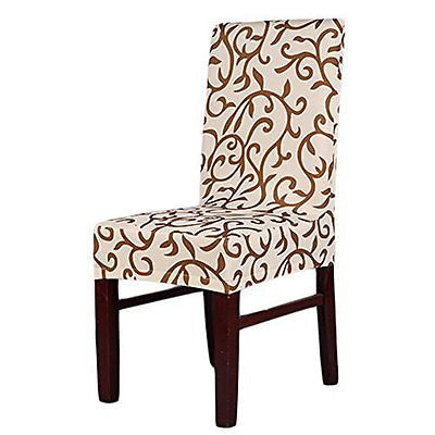 Stretch Removable Washable Short Dining Chair Cover Protector Seat Slipcover